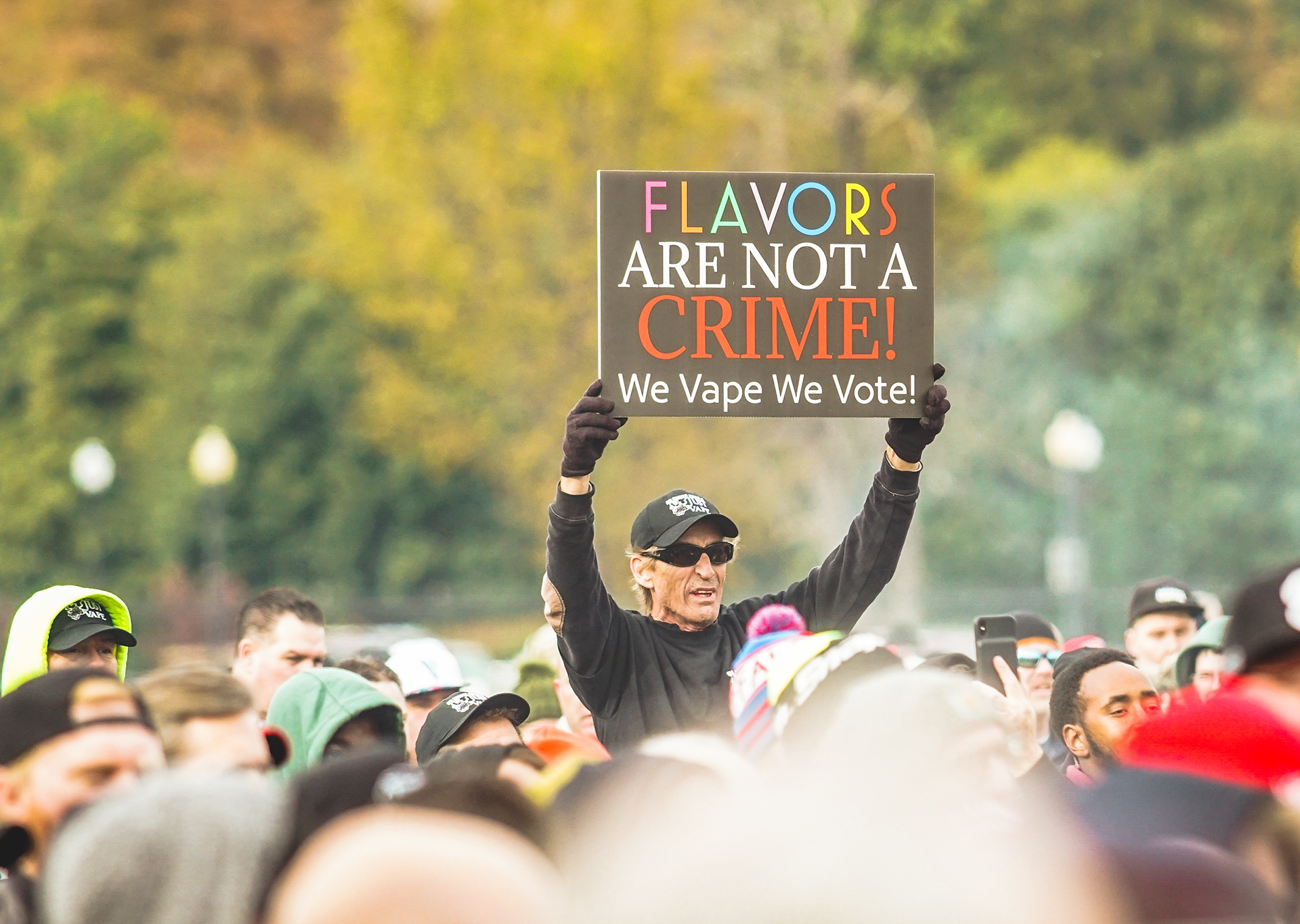 protest photo benefits of vaping flavors CASAA
